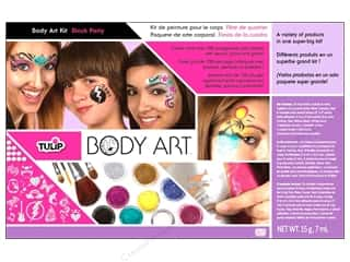 Non-Sticking Sheets 4 oz: Tulip Body Art Kit Paint & Glitter Block Party