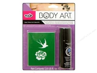 Tulip Body Art Kit Spray Tattoo Ink & Stencil Blue
