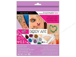 Weekly Specials Martha Stewart Stencils: Tulip Body Art Glitter Tattoo Kit Vibrant