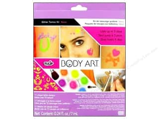 Clearance Art Institute Glitter .5 oz Ultrafine: Tulip Body Art Glitter Tattoo Kit Neon