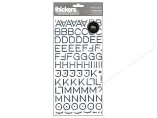 Pebbles Inc American Crafts Thickers Stickers: American Crafts Thickers Alphabet Stickers Hardcover Silver
