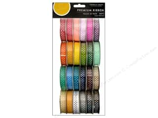 Scrapbooking & Paper Crafts: American Crafts Ribbon Value Pack Dot Grosgrain #1 24 pc.
