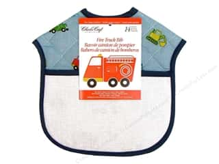 Aida Bibs / Fabric Bibs Blue: Charles Craft Quilted Bib Fire Truck