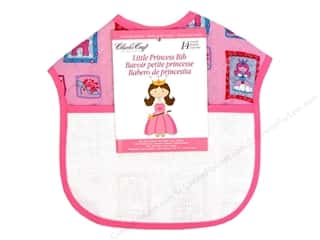 Aida Bibs / Fabric Bibs Blue: Charles Craft Quilted Bib Princess