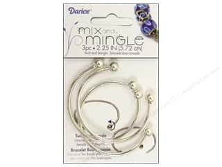 Darice JD Bracelet Mix&amp;Mingle Bangle 2.25&quot; SS