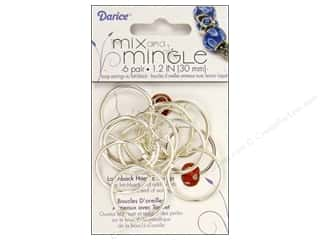 Darice JD Earring Mix&amp;Mingle Hoop 30mm SS