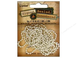 """Clearance Blumenthal Favorite Findings: Darice JD Necklace Ball Chain 18"""" S Silver 4pc"""