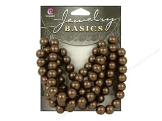 Cousin Bead Glass Round 8mm Matte Brown 80pc
