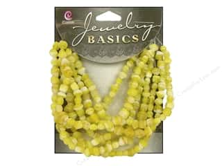 Cousin Bead Glass Bicone 4mm Swirl Yellow 30gm