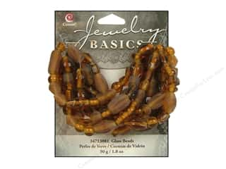 Cousin Basics Glass Beads 50 gram Mixed Hues and Shapes Tortoise