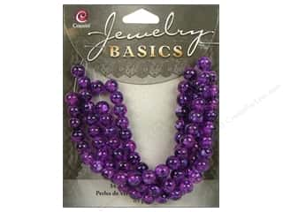 Cousin Basics Glass Beads 6 mm Round Purple 85 pc.