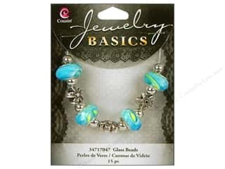 Cousin Bead Glass Lg Hole Mix Facet Op Ocean 15pc