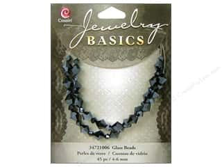 Cousin Bead Glass Crystal Bicone 4-6mm Black 45pc