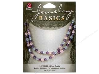 Cousin Bead Glass Crystal Bicone Mix 4mm Pink/Purple 60pc