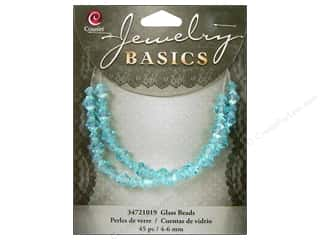 Cousin Bead Glass Crystal Bicone 4-6mm Aqua 45pc