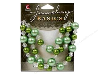 Cousin Bead Glass Pearl/Crystal Mix 8-10mm Mint 51pc
