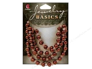 Cousin Basics Glass Beads 6 mm Pearl Crystal Mix Brown