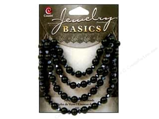 Cousin Bead Glass Pearl/Crystal Mix 6mm Black 101pc