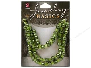 Cousin Basics Glass Beads 6 mm Pearl Crystal Mix Green 101 pc.