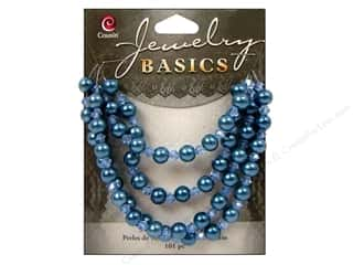 Cousin Bead Glass Pearl/Crystal Mix 6mm Blue 101pc