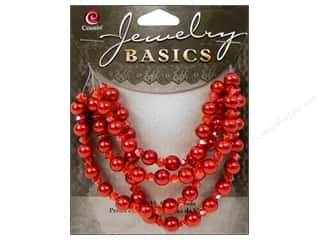 Cousin Basics Glass Beads 6 mm Pearl Crystal Mix Red 101 pc.