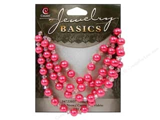 Cousin Bead Glass Pearl/Crystal Mix 6mm Pink 101pc