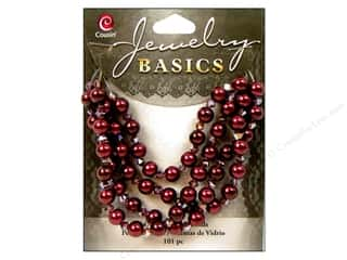 Cousin Basics Glass Beads 6 mm Pearl Crystal Mix Purple 101 pc.