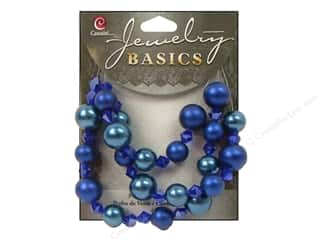 Cousin Bead Glass Pearl/Crystal Mix 10-12mm Blue