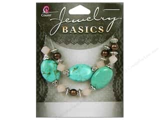 Semi-precious Stone Beads: Cousin Bead Gemstone Marbled Turquoise Mix 27pc