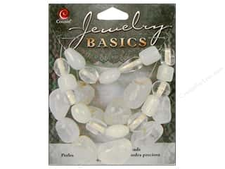 Semi-precious Stone Beads: Cousin Bead Gemstone Glass Clear 1.55oz