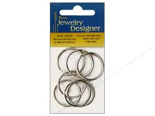Applicators $8 - $25: Darice Jewelry Designer Split Ring 25mm Nickel Plate Steel 10pc