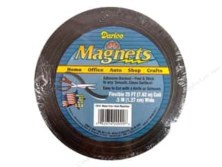 "Basic Components Size: Darice Magnet Strip .5"" Adhesive Back 25ft"