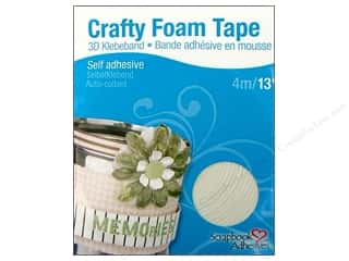 Scrapbooking Tapes: 3L Scrapbook Adhesives Crafty Foam Tape 13 ft. White