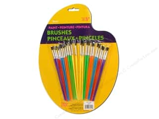 Darice Paint Brush Plastic Handle Assorted 24pc
