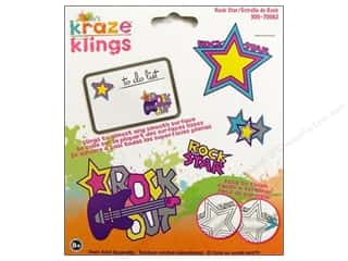 Window Cling: Kelly's Clings Gel Rock Star 4pc