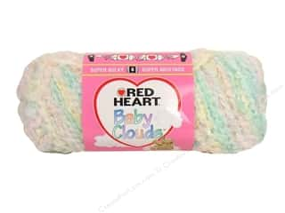 Polyester / Acrylic / Poly Blend Yarns: Red Heart Baby Clouds Yarn Pastel Multi 4.5 oz.