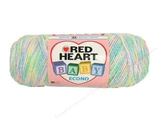 Hearts $10 - $90: Red Heart Baby Econo Yarn #1047 Candy Print