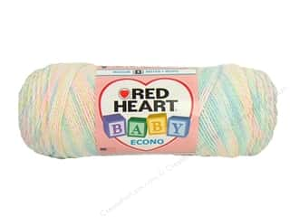Hearts $6 - $10: Red Heart Baby Econo Yarn #1052 Newborn Print