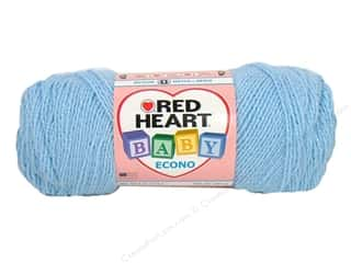 Polyester / Acrylic / Poly Blend Yarns: Red Heart Baby Econo Yarn #1802 Baby Blue