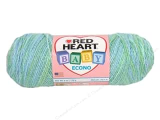 Polyester / Acrylic / Poly Blend Yarns: Red Heart Baby Econo Yarn #1939 Swim Multi