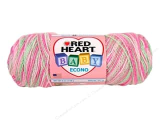 Clearance Red Heart Baby Clouds Yarn: Red Heart Baby Econo Yarn #1951 Strawberry 460 yd.
