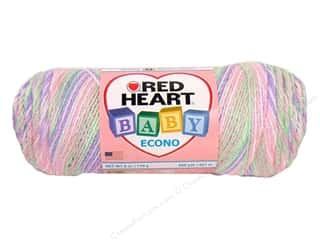 Polyester / Acrylic / Poly Blend Yarns: Red Heart Baby Econo Yarn #1982 Rainbow Sherbet Multi