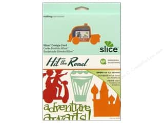 Dies Slice Design Cards: Slice Design Card Making Memories MS+ Hit The Road