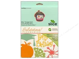 Dies Slice Design Cards: Slice Design Card Making Memories MS+ Salutations!