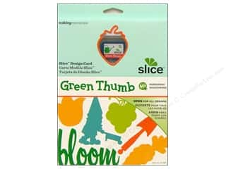 "Slice by Elan 4"": Slice Design Card Making Memories MS+ Green Thumb"