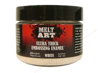 Beeswax Ranger Melt Art: Ranger Melt Art Ultra-Thick Emboss Enamel UTEE White 3oz
