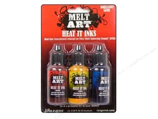 Ranger Melt Art Heat It Dye Ink Gems Brilliant 3pc