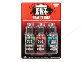 Ranger Melt Art Heat It Dye Ink Gems Organic 3pc