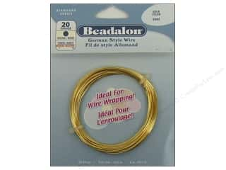 Beading & Jewelry Making Supplies: Beadalon German Style Wire 20ga Round Gold 19.7 ft. (3 packages)