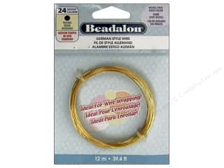 Fibre-Craft wire: Beadalon German Style Wire 24ga Round Gold 39.4 ft. (3 feet)